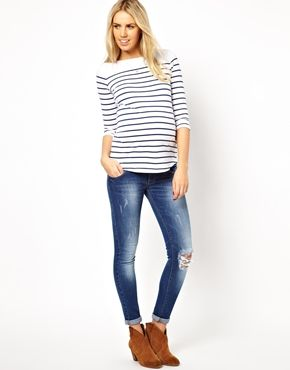 Distressed maternity skinny jeans – Global fashion jeans collection