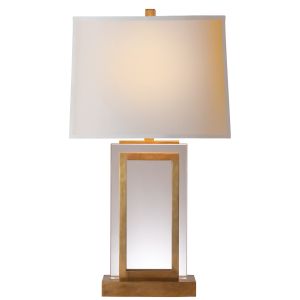 Antique-Burnished Brass with Natural Paper Shade