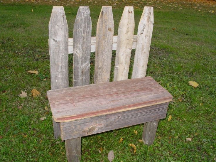 Garden Barn Wood Picket Fence Small Bench Etsy Outside Benches