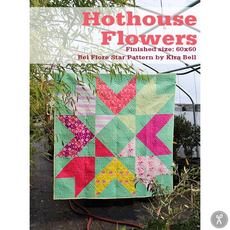 Hothouse Flowers Quilt Kit // Combination of Andover Fabric's Hothouse Flowers by Mo Bedell and Robert Kaufman's woven flannel. So warm and dreamy!