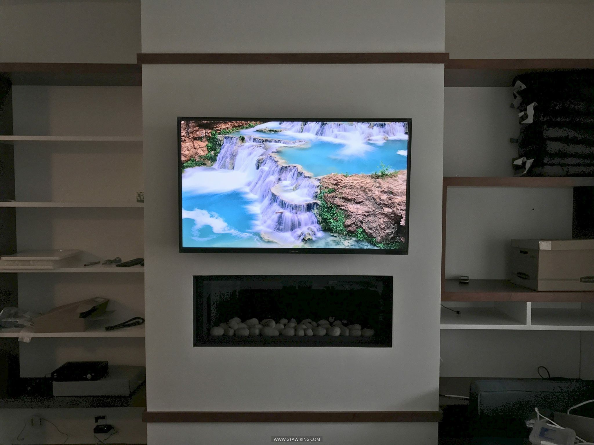 TV wall mounting & professional cables concealment. Toronto, Ontario ...
