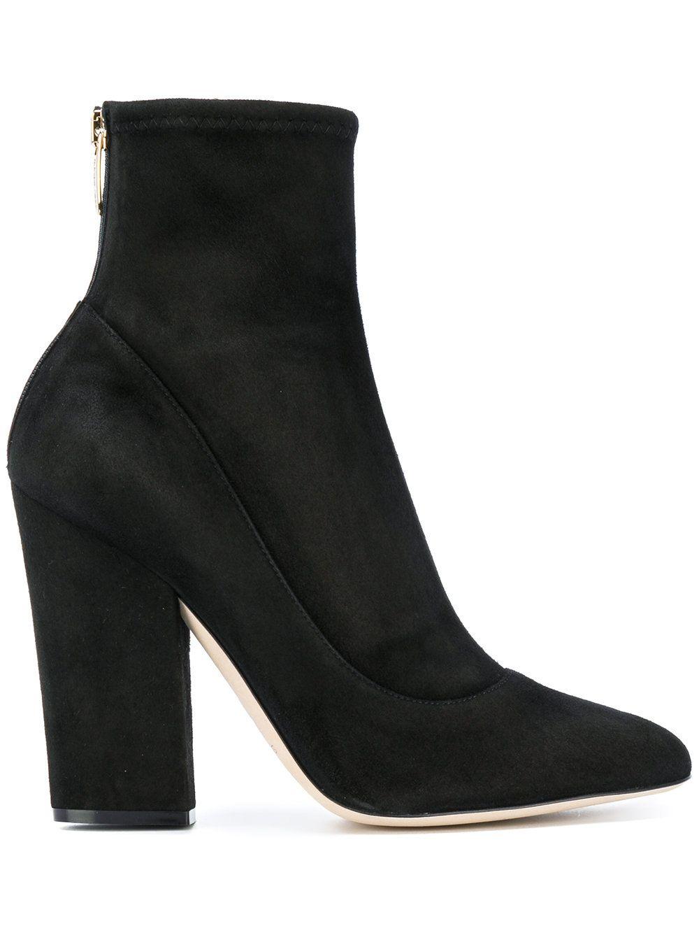 sock style ankle boots - Black Sergio Rossi E4bo57