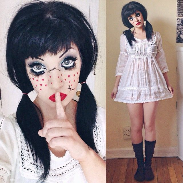 Doll Doll Halloween Costume Creepy Doll Costume Scary Doll Costume