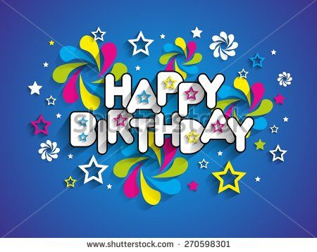 Happy Birthday Greeting Card Background Vector Illustration Happy