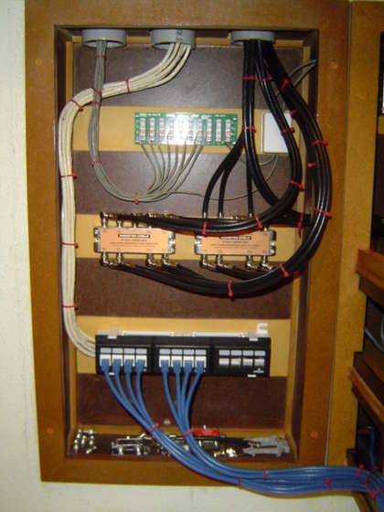 whole house structured wiring networking set ups cabinets rh pinterest co uk Onq Structured Wiring home structured wiring system compare