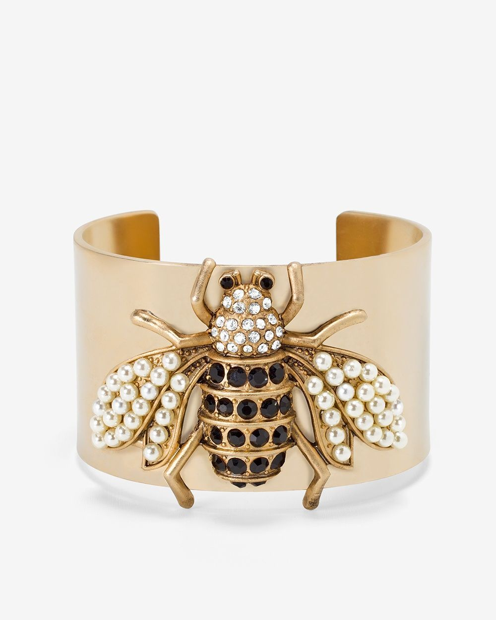 035245a2d01 Women's Bumble Bee Cuff Bracelet by WHBM | Products | Bee jewelry ...