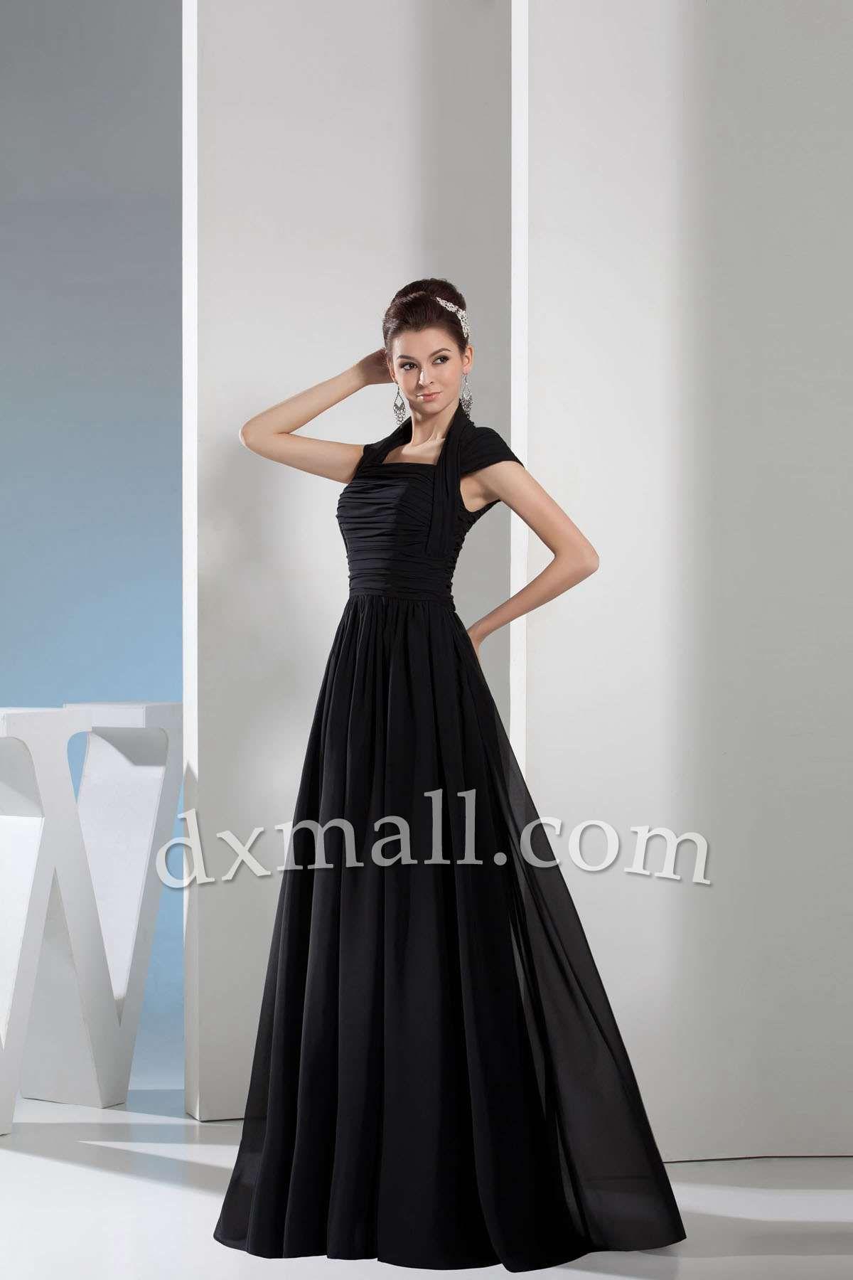 SheathColumn Wedding Guest Dresses High Neck Floor Length Chiffon