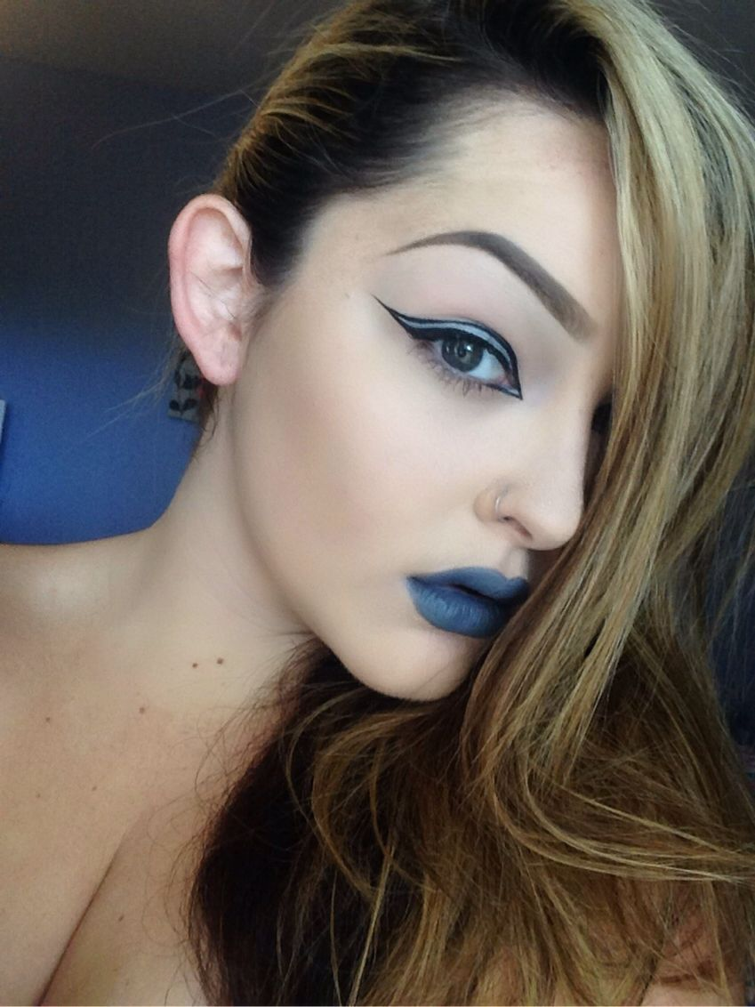 Graphic liner and space cake lipstick by melt cosmetics