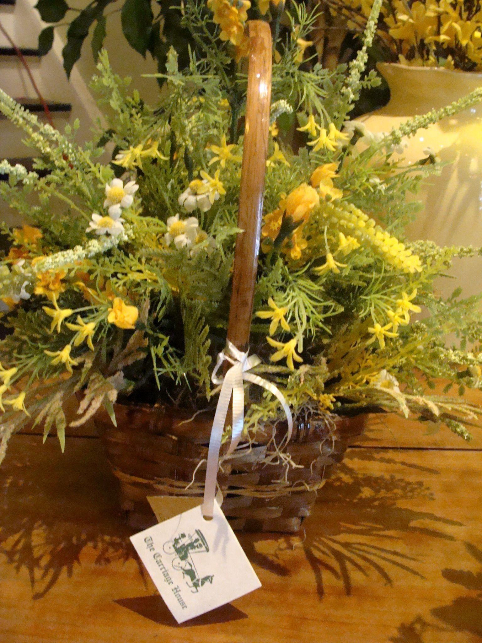 Woven Basket With Silk Wild Flowers Fall Season Pinterest