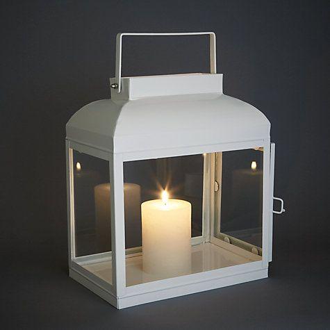 Buy John Lewis Croft Collection Lantern, Marshmallow Online at ...