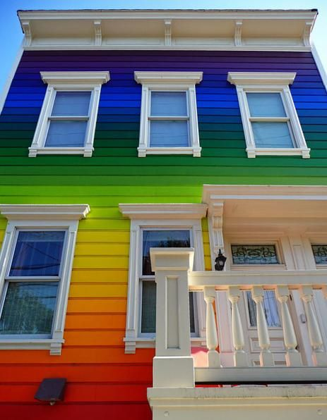 Great Exterior House Panting Rainbow Theme, Exterior Paint Colors For  Homes, Exterior Paint Schemes ~ Home Design