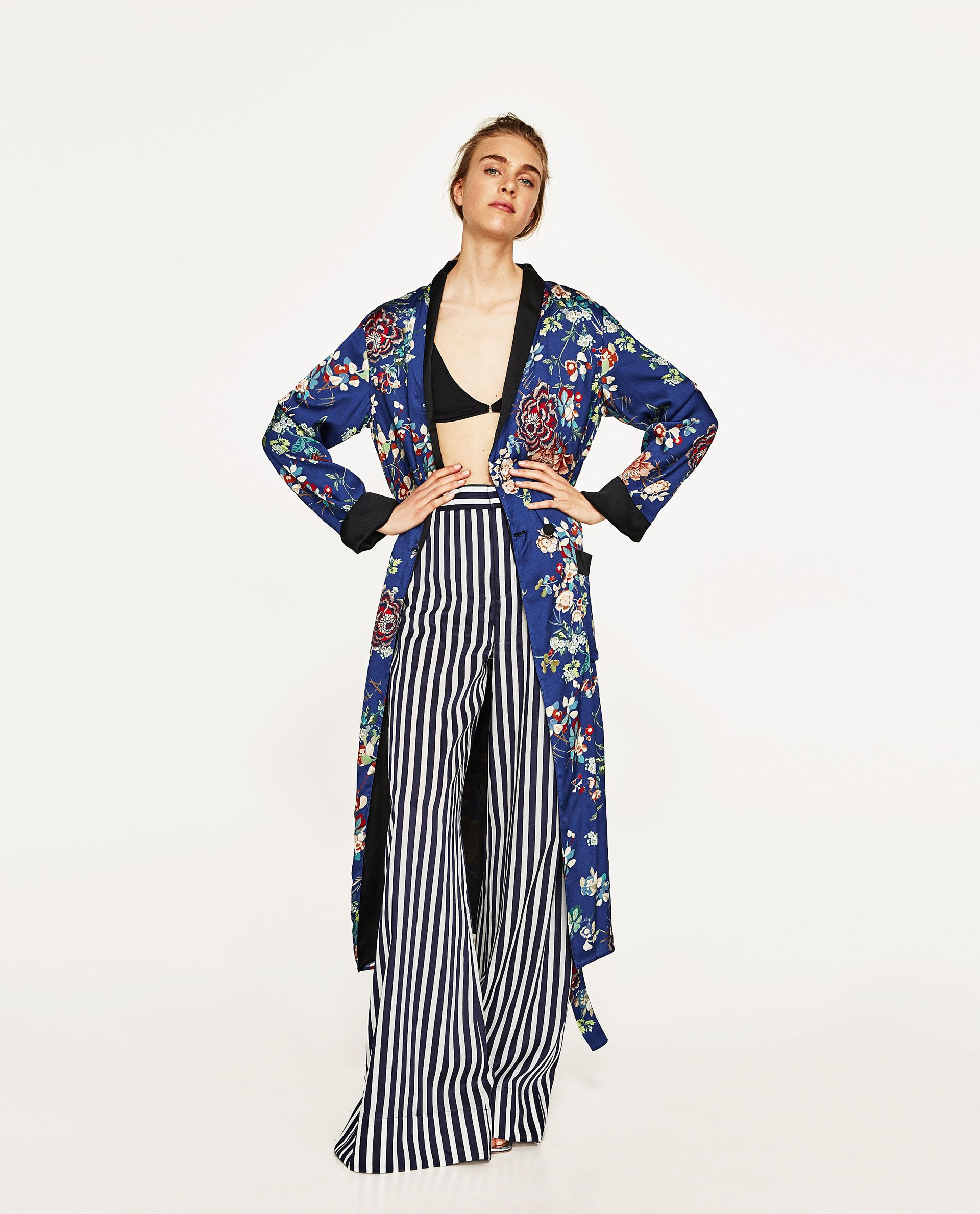 9c6b787c Women's New In Clothes. Image 1 of STRIPED PALAZZO TROUSERS from Zara