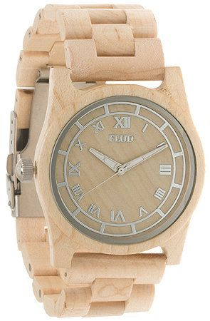 The Moment Watch in Birch with Interchangeable Bands