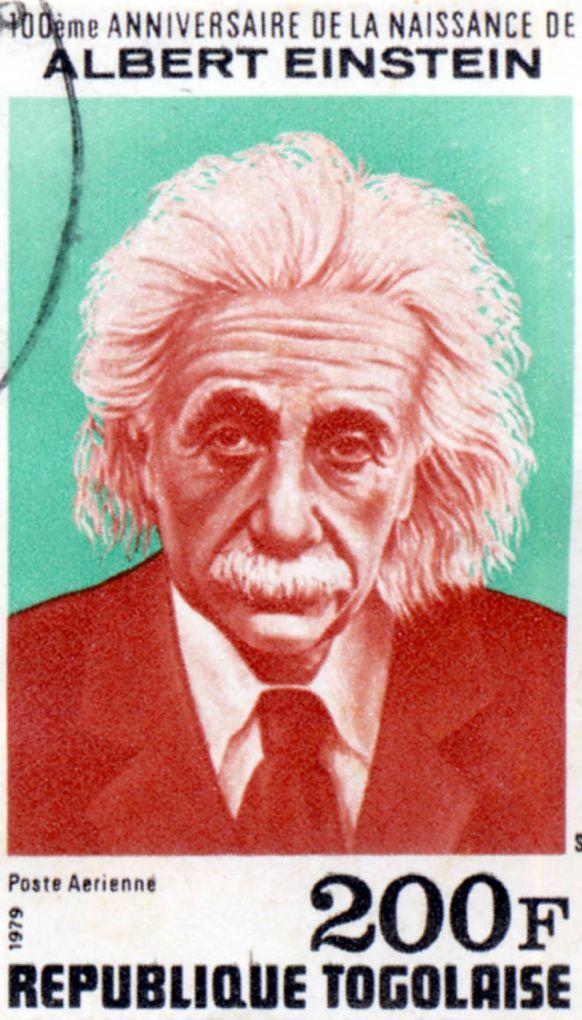 Einstein Stamp Togo Einstein Personlichkeiten Mann