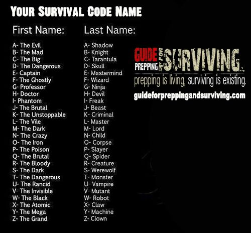 What's Your Survival Code Name Mine Is Captain Corpse Lol Rhpinterest: Cb Radio Names At Gmaili.net