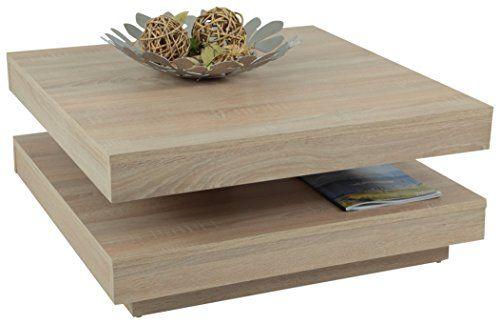 Apollo 063408 Couchtisch, Holz, sonoma eiche, 78 x 78 x 34 cm - wohnzimmertisch sonoma eiche