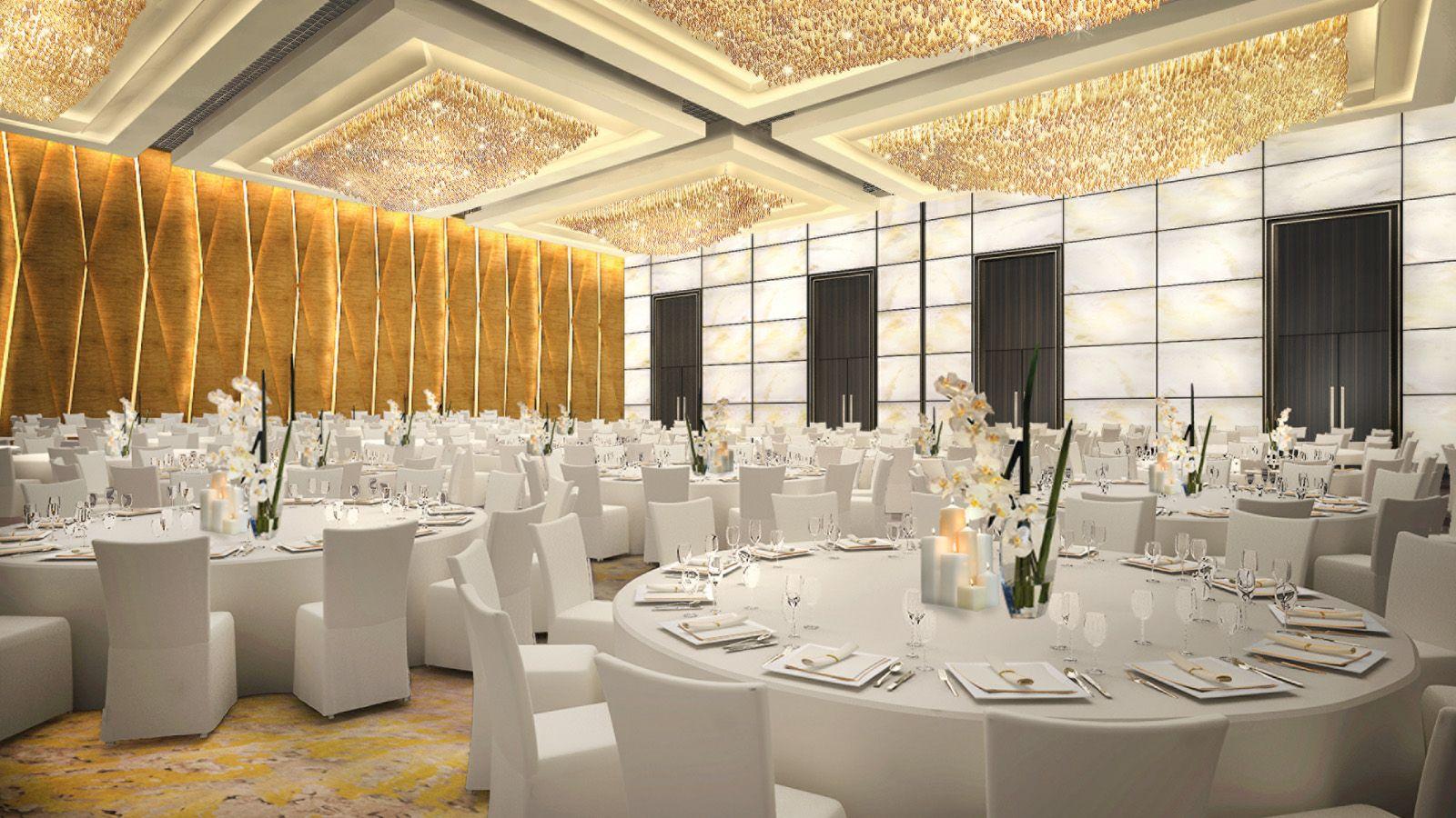 Image gallery modern ballroom for Design hotel wedding