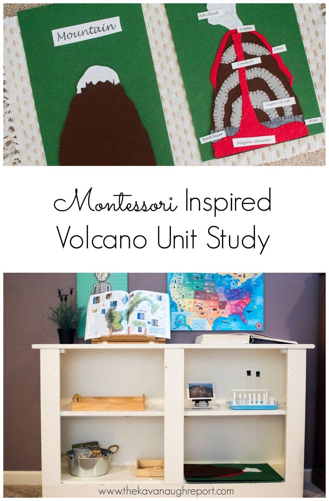 A Montessori Inspired Volcano Unit Study This Small Study Includes Some Montessor Kindergarten Lesson Plans Montessori Science Montessori Activities Preschool [ 1600 x 1052 Pixel ]