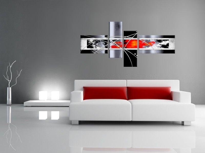 www.hexoa.fr 19837 tableau-toile-abstrait-rouge-feu.jpg | chambre ...