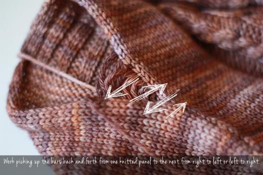 Knitted - Mattress stitch - Tutorial for seaming Vertical seams