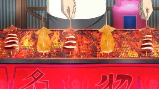 Grilled squid, Anime, Food