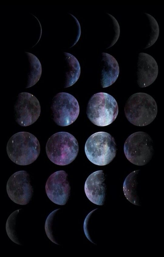 Different faces of the moon