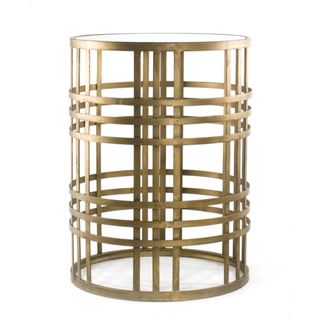Innerspace U0027Weaveu0027 Metal Barrel End Table (Barrel Table With Weave), Multi