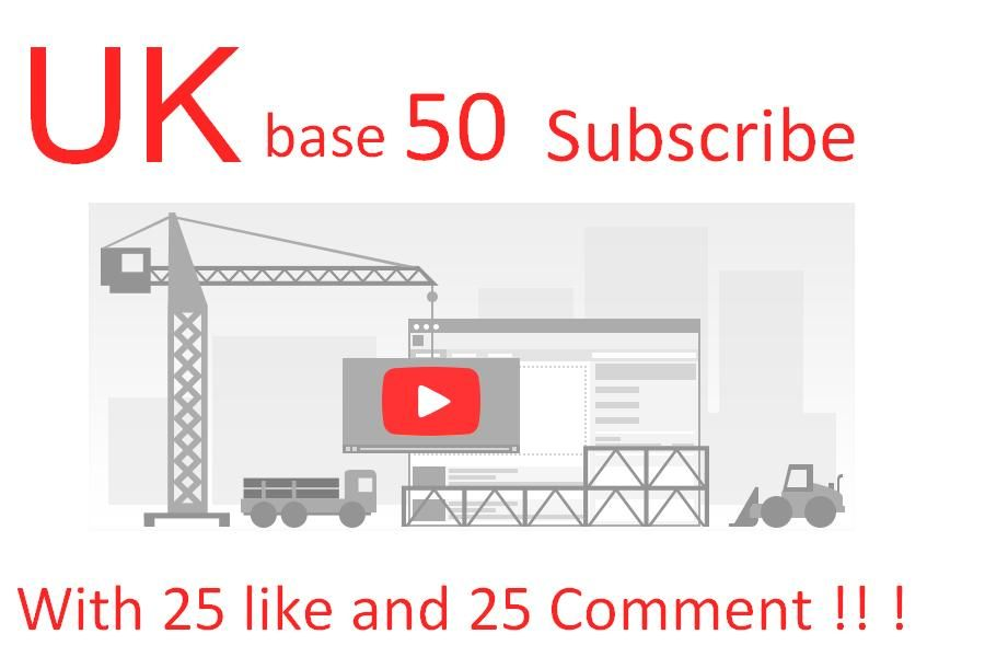 sakibshahrier: 50 real UK base Youtube Subscribe and 25 like 25 comment for $5, on fiverr.com