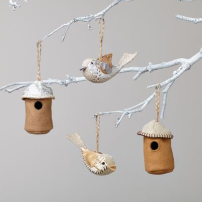 The Tweet Life Ornaments (Set of 2)    The Land of Nod