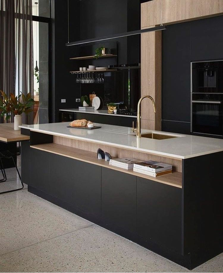 pingl par kelly carpenter sur kitchens pinterest cuisines cuisine noir et d coration de. Black Bedroom Furniture Sets. Home Design Ideas