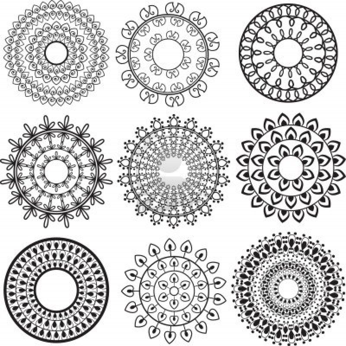 Henna Mandala Background Very Elaborate And Easily Editable Tat