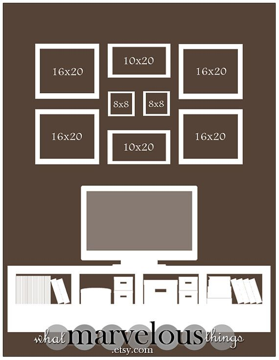 Wall Display Templates Magnolia Crescent Etsy Photo Wall Display Photo Wall Display Template Family Photo Wall