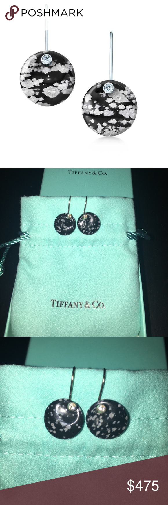 d1c917fae New Tiffany & Co Elsa Peretti Disc Earrings Authentic Tiffany & Co round  earrings made of