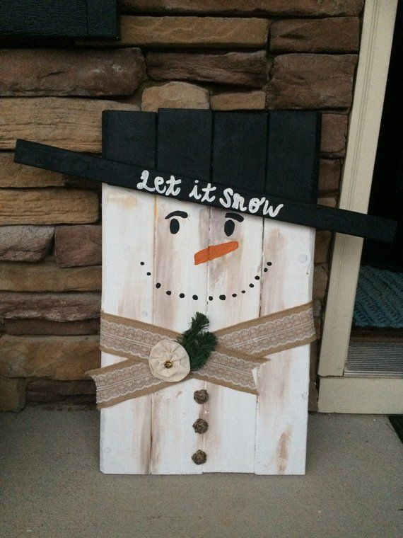 Wood snowman christmas decoration outdoor decoration pallet snowman