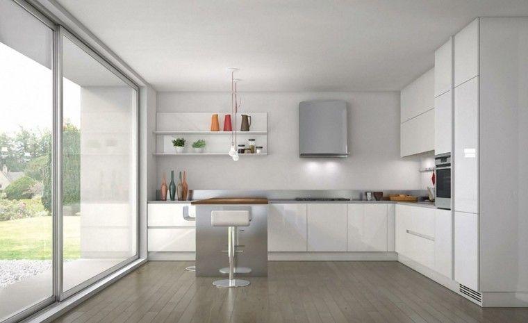 Diseño cocinas blancas y modernidad en 50 ideas. | Cocinas muebles ...