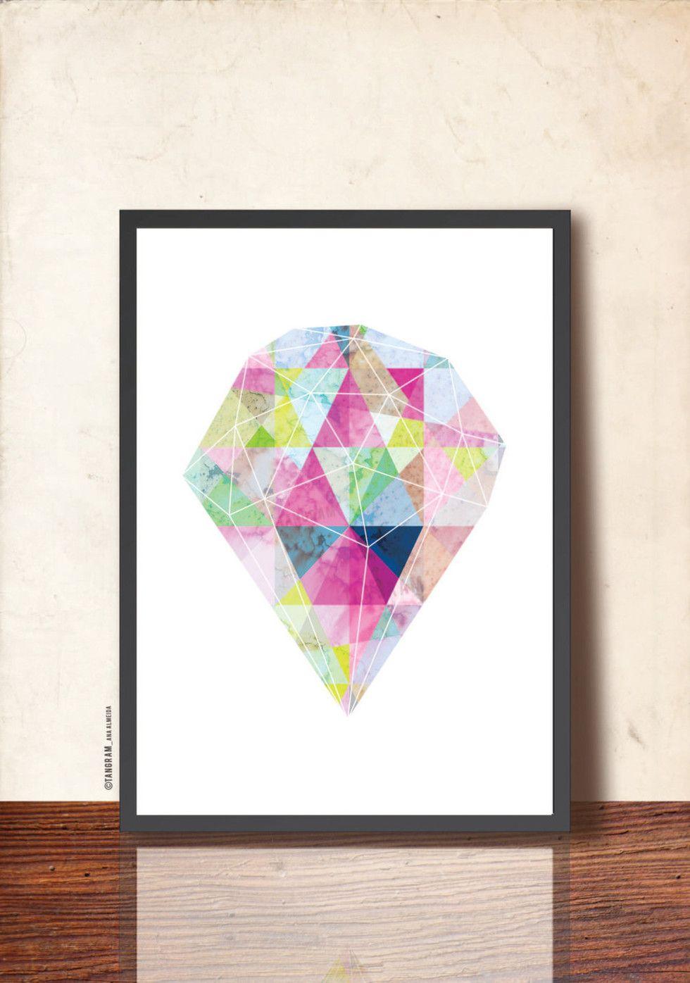 Lovely feature in a beautiful blog! Abstraktia geometriaa à la Tangram Artworks | Art prints, posters, juliste - Pupulandia | Lily.fi