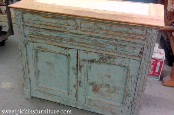 Distressed furniture - Antique Hutch} – Super Distressed! Wax, Black Hutch  And Woods - Antiquing Old Furniture Antique Furniture