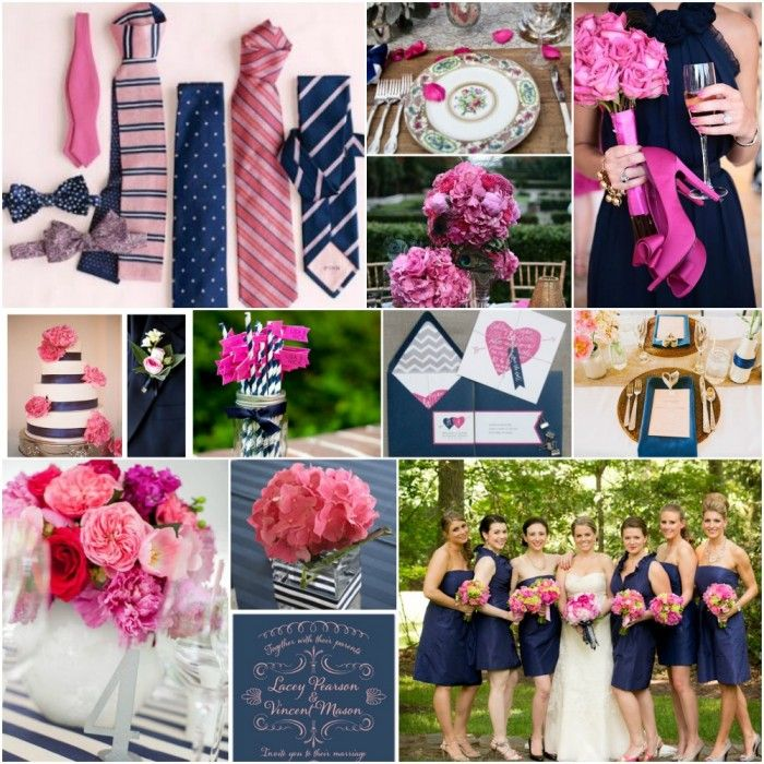 Pink And Navy Wedding Ideas T Is For Table Pinterest