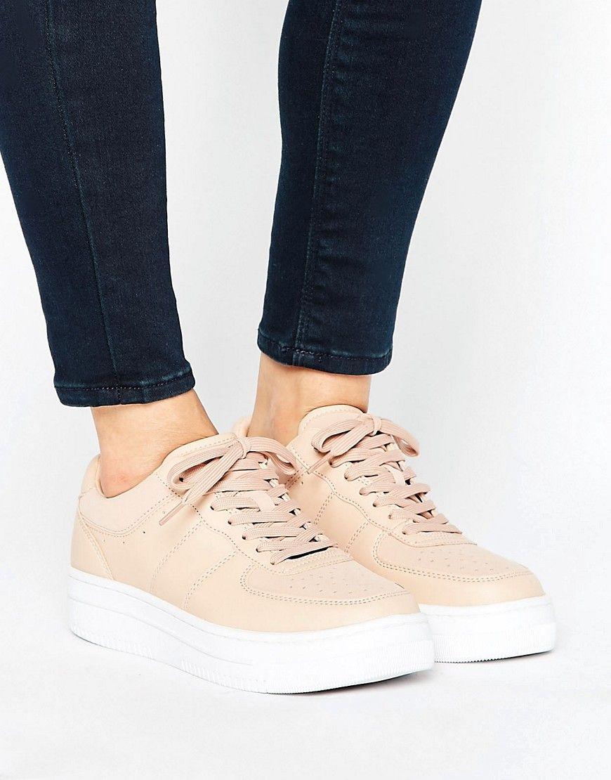 Pull\u0026Bear Leather Look Chunky Sneaker