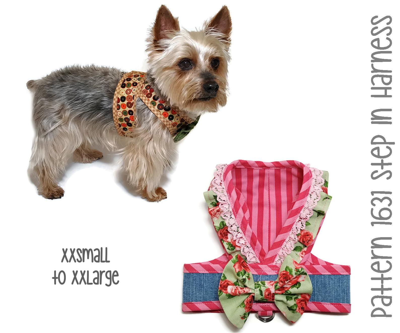 Pattern 1631 Dog Step In Harness Dog Harness Pattern Dog