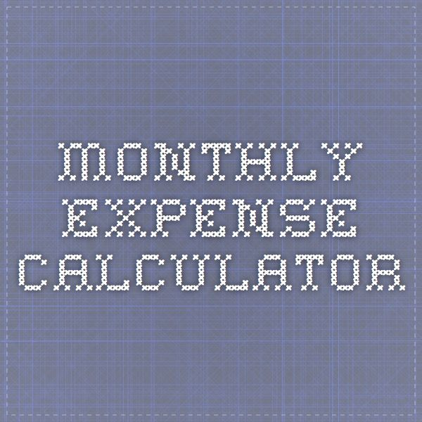 monthly expense calculator
