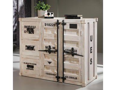 sideboard container massivholz wei antik 3 schubladen. Black Bedroom Furniture Sets. Home Design Ideas