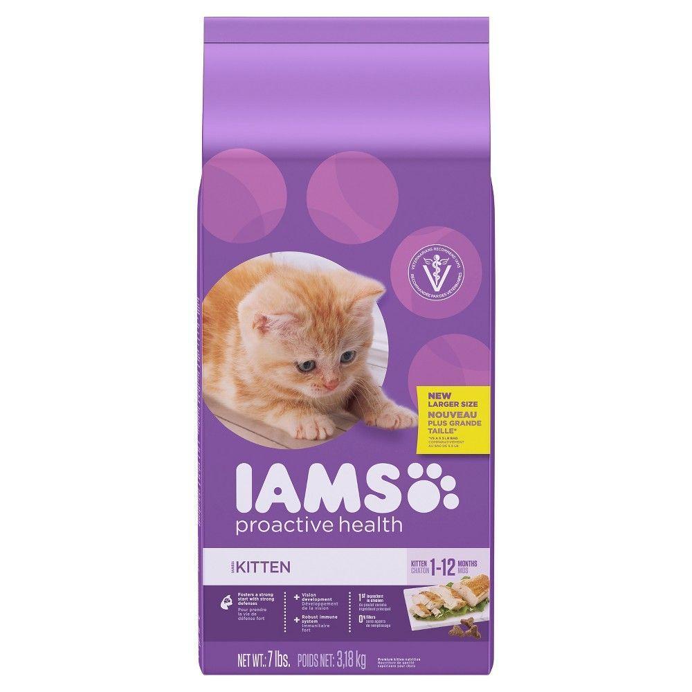 Iams Proactive Health Healthy Kitten Dry Cat Food 7 Pounds Dry Cat Food Kitten Food Wet Cat Food