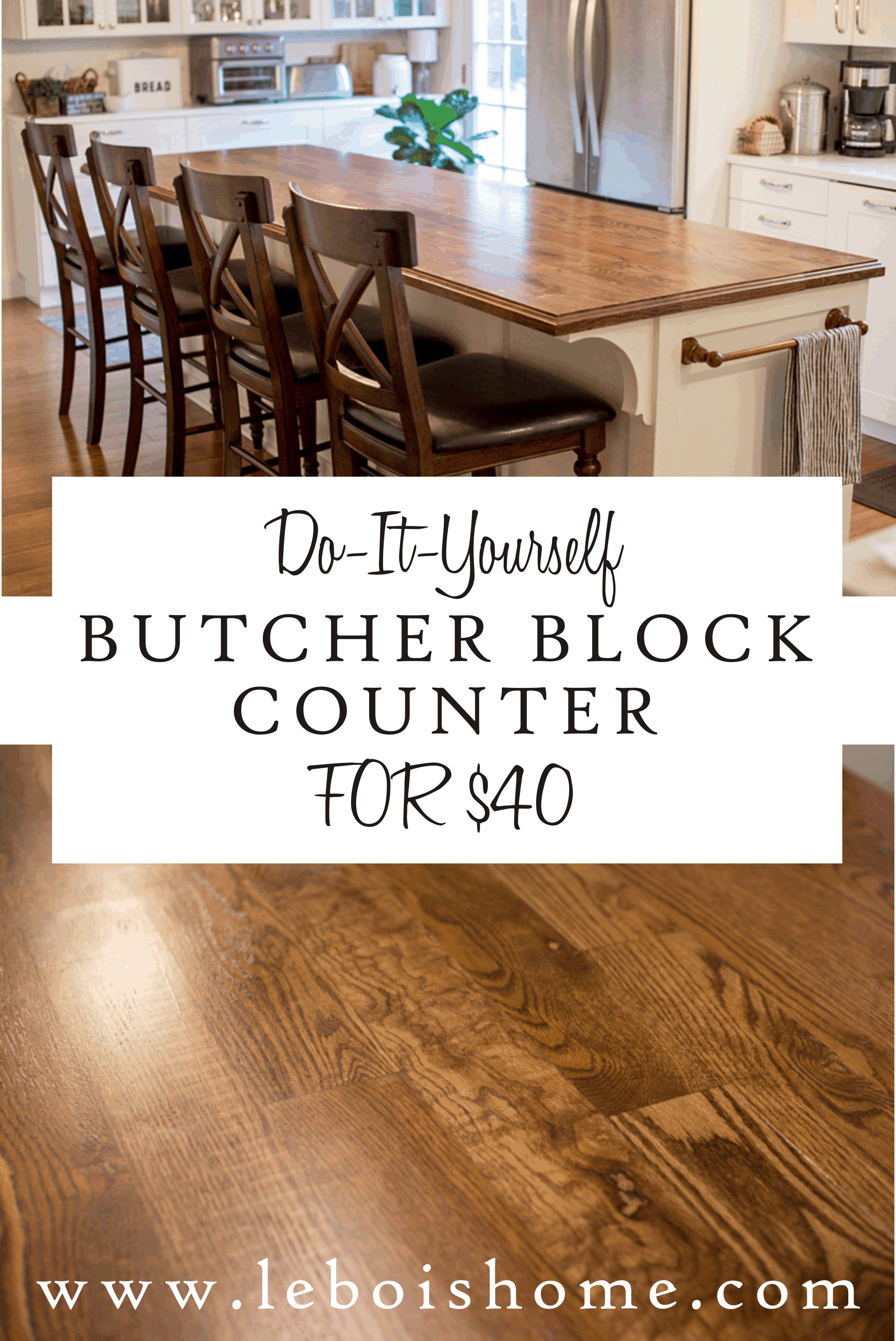 DIY Butcher Block Counter in 2020 Diy butcher block