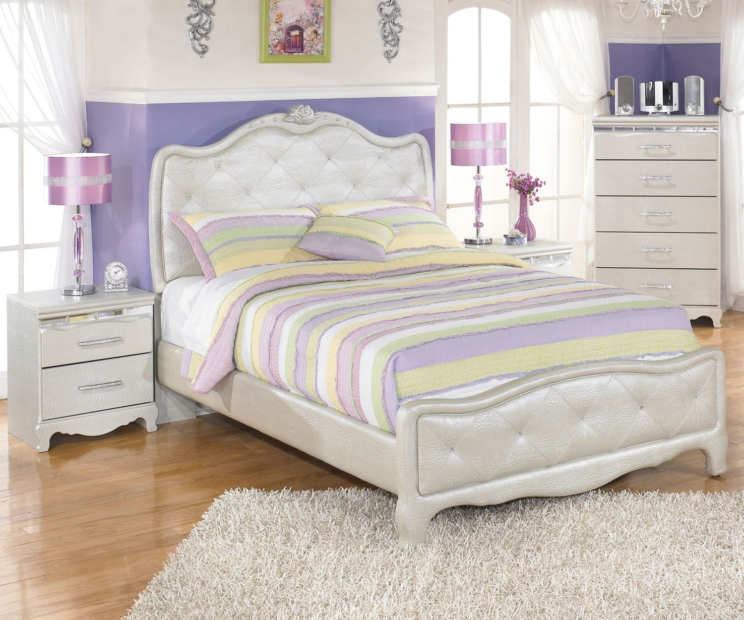 Zarollina Upholstered Bed Full Size By Ashley Furniture