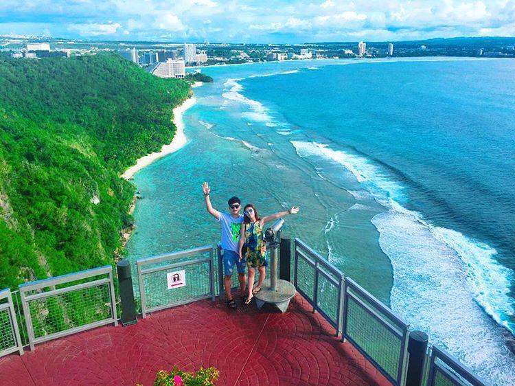Instagram의 반짝반짝 빛나는 님: #사랑의절벽  - - #괌#괌여행#투몬#여행#휴가#데일리#럽스타그램 #guam#daily#아날로그파리#커플사진#커플여행#좋아요
