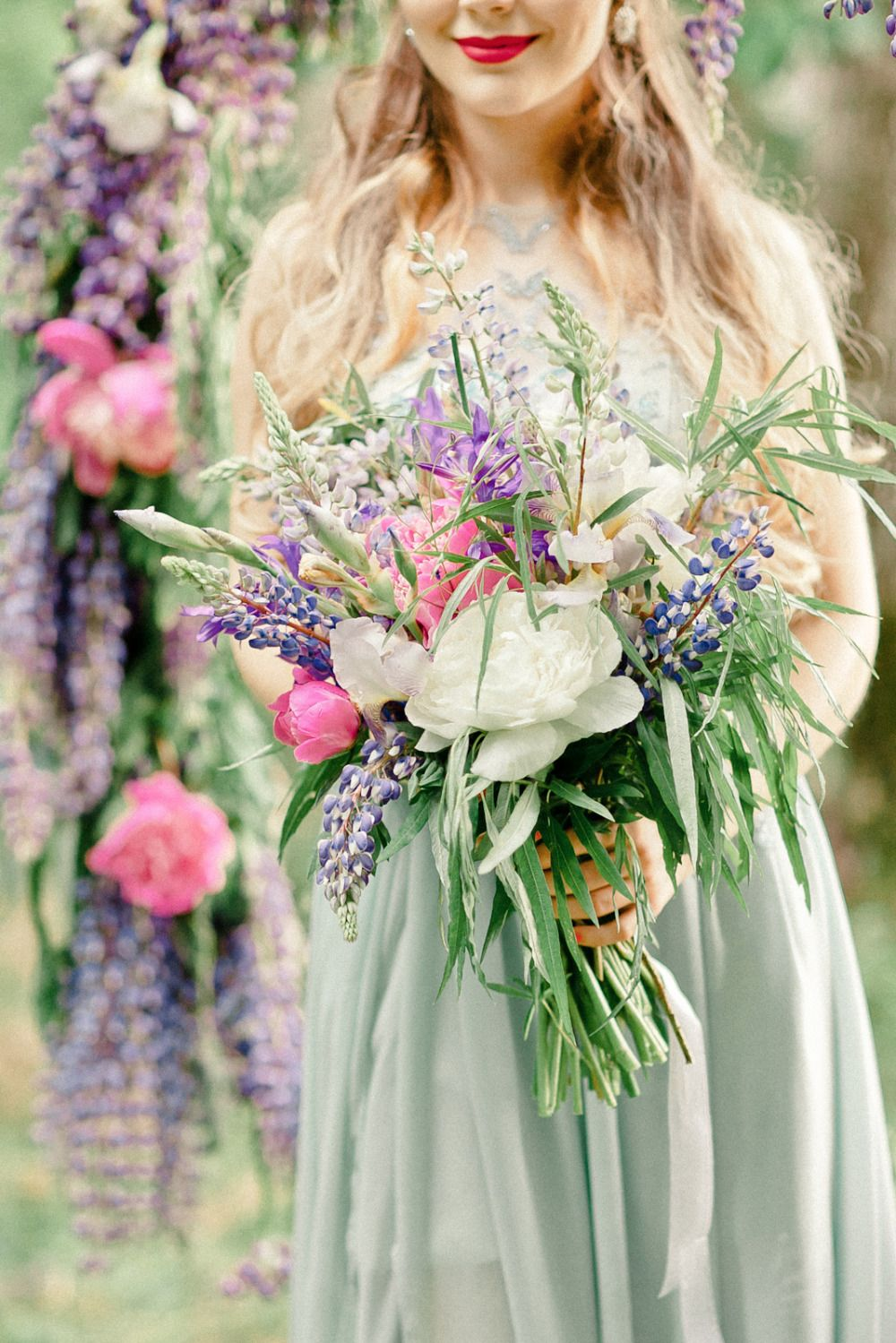 Lupines And Love Purple Wedding Inspiration Orange Wedding Flowers Purple Wedding Inspiration Flower Bouquet Wedding