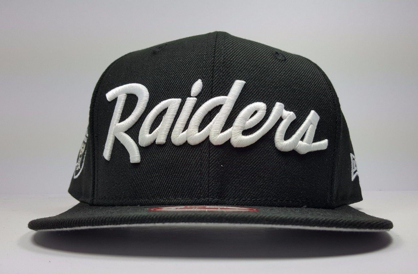 New Era Los Angeles Raiders 9fifty Vintage Script Nwa Eazy Logo Snapback Hat Cap