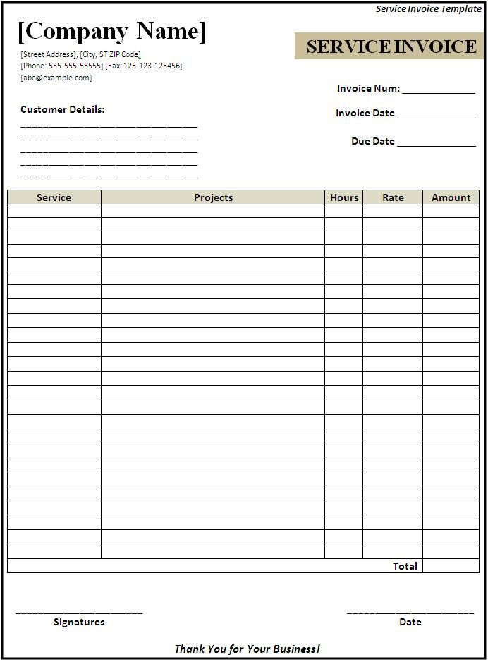 Sales Receipt Template Download Page Word Templates resit - free service invoice