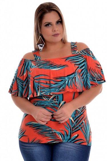 15d441ac2b Blusa Plus Size Viviane Print